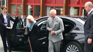 Prince Charles and his wife Camilla arrive in Co Wicklow