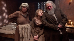 From BBC's The Hollow Crown, Julie Walters as Mistress Quickly, Maxine Peake as Doll Tearsheet and Simon Russell Beale as Falstaff. Photo: BBC