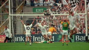 Brian Murphy scores the decisive goal in the 1998 Leinster football final