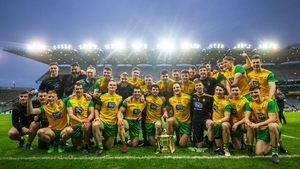 Donegal celebrate their Division 2 Allianz League success