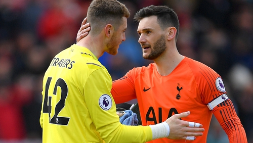 World Cup-winning captain Hugo Lloris has a word of advice for the young Ireland keeper