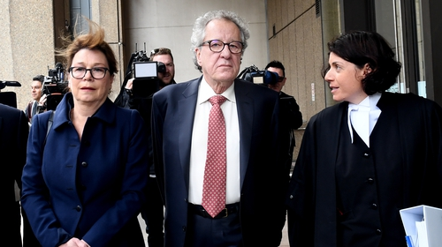 Geoffrey Rush took legal action again a News Corp tabloid after it accused him in reports of inappropriate behaviour