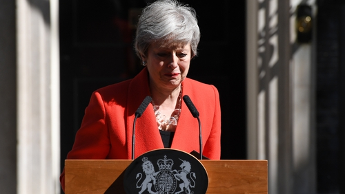 Theresa May said it 'has been the honour of my life to hold' the office of prime minister