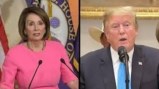 Trump and Nancy Pelosi