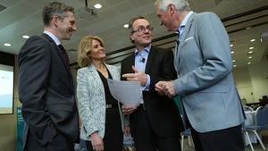 Simon Boucher, CEO of IMI, IDA Ireland's Mary Buckley, Professor Julian Birkinshaw, London Business School and David Cornick, IMI Programme Director