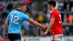 No sympathy shown - Ciarán Kilkenny shakes Emmet Carolan's hand after