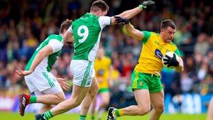 Paddy McGrath breaks clear of Fermanagh's Ryan Jones