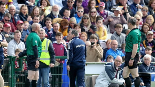 Davy Fitzgerald is sent to the stand by referee Johnny Murphy