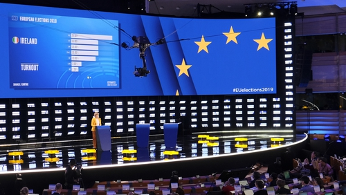 Pro-European Union parties have held on to two-thirds of seats in the EU parliament elections