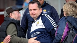 Wexford manager Davy Fitzgerald up in the stands after being sent off