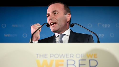 Manfred Weber, the favourite to replace Jean-Claude Juncker as European Commission chief, said the EU centre was 'shrinking'