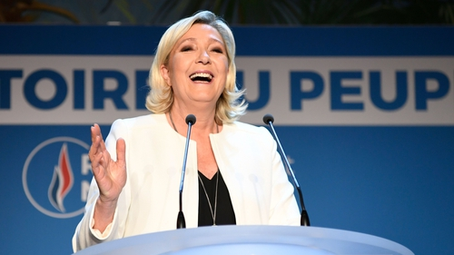 Marine Le Pen's National Rally party set to finish top of the poll in France