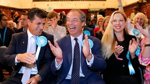 Nigel Farage was elected for his new party in the South East