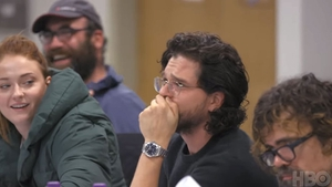 Kit Harington has an emotional reaction during Game of Thrones' final table read