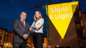 Pat Dennigan, CEO Focus Ireland, and Catherine O'Kelly, Managing Director, Bord Gáis Energy, at the launch of Shine a Light