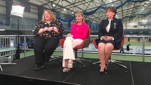 Naomi Long, Martina Anderson and Diane Dodds