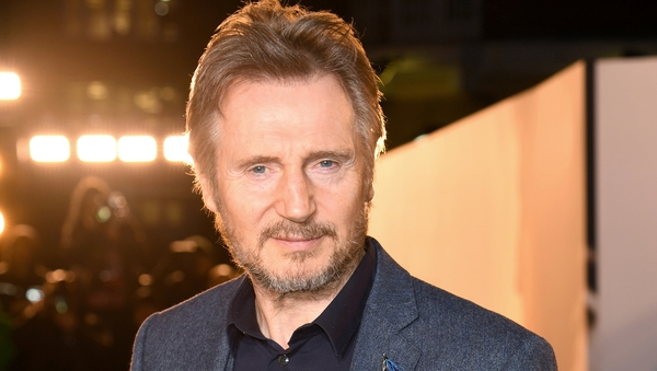 """Liam Neeson: """"There's just something about being the god of gods. I get such a kick out of doing that, and having a bald eagle sitting on my throne."""""""