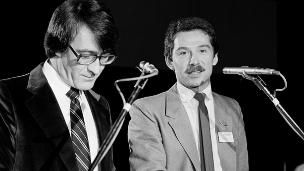 Brendan Balfe and Vincent Hanley at RTÉ Radio 2 launch (1979)