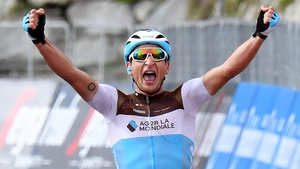 Nans Peters of Team AG2R La Mondiale celebrates winning the 17th stage
