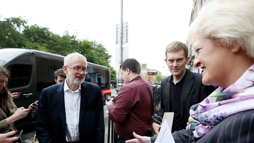Jeremy Corbyn is in Dublin for talks with General Secretary of the Irish Congress of Trade Unions Patricia King