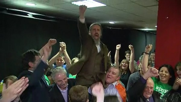 Luke 'Ming' Flanagan was elected after exceeding the quota on the 13th count