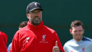 Jurgen Klopp takes a central role at Liverpool training