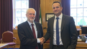 Taoiseach Leo Varadkar and British Labour Party leader Jeremy Corbyn