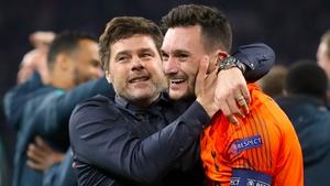Pochettino and Lloris celebrate Spurs' incredible comeback win over Ajax