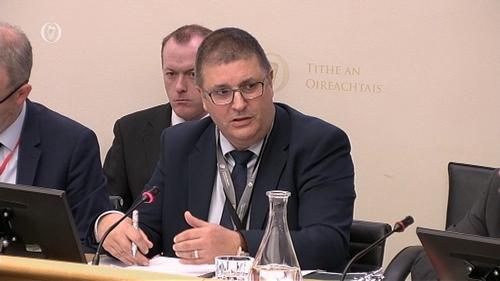 Derek Moran was speaking at an Oireachtas committee this morning