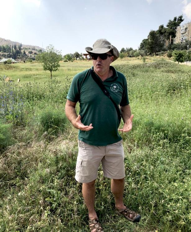 Broadcaster Amir Balaban in Gazelle Valley, next door to the JBO