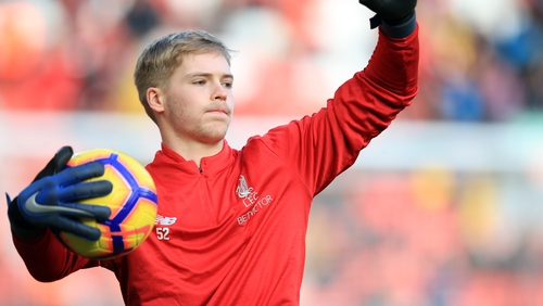 Caoimhin Kelleher is back in training with Liverpool
