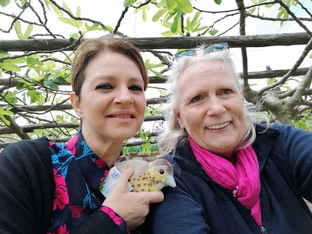 Left: Laura Cucchia, Director of Bosco di San Francesco, with (right) Kate Liddy