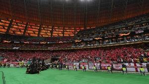 Arsenal fans before the Europa League final