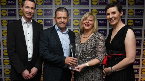 Ephie Fitzgerald received his award at a function at Croke Park