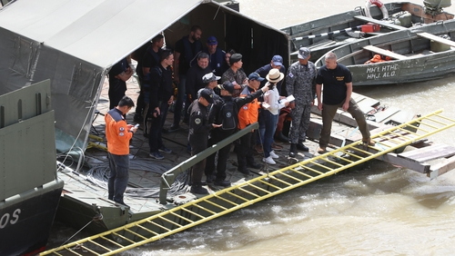 High water levels in the Danube are hampering the search operation