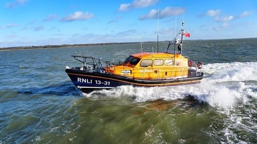 The Michael O'Brien lifeboat was due to arrive at 1.31pm this afternoon