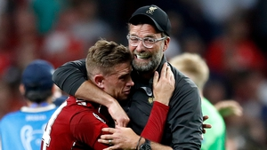 Henderson embraces Klopp at the final whistle