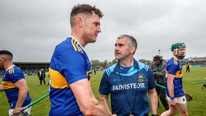 Liam Sheedy congratulates Seamus Callanan after the game