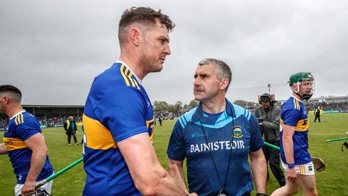Liam Sheedy congratulates Seamus Callanan after the game