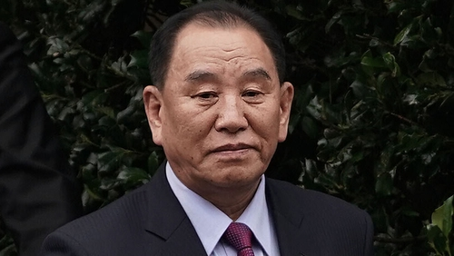 Kim Yong-chol pictured at the failed summit in Hanoi