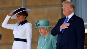 Donald Trump alongside Queen Elizabeth at Buckingham Palace