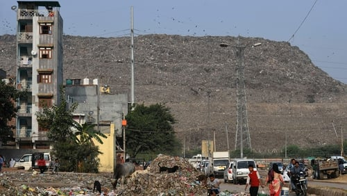 The rubbish mountain is rising around 10m a year