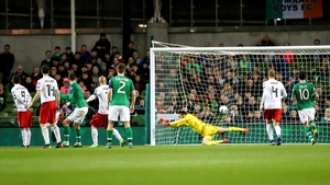 Shane Duffy and David McGoldrick were attached to the Georgia wall for Conor Hourihane's free-kick winner in March