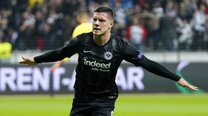Luka Jovic scored home and away against Chelsea in the semi-finals