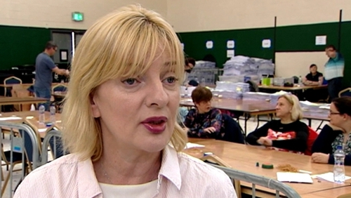 The distribution of outgoing MEP Liadh NíRiada's 98,379 votes will begin tomorrow