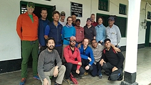 The group set off to climb the peak in the Nanda Devi region in May
