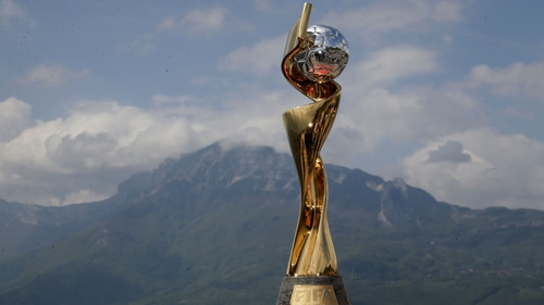 The FIFA WWC trophy is displayed at the Bastille fortress