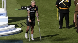 Jack Nowell hurt his ankle in the Premiership final