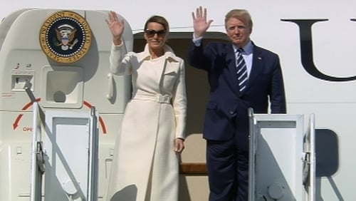 Donald Trump Arrives In France For D-Day Ceremonies