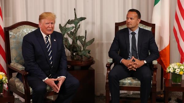 Donald Trump and Leo Varadkar held talks at Shannon Airport
